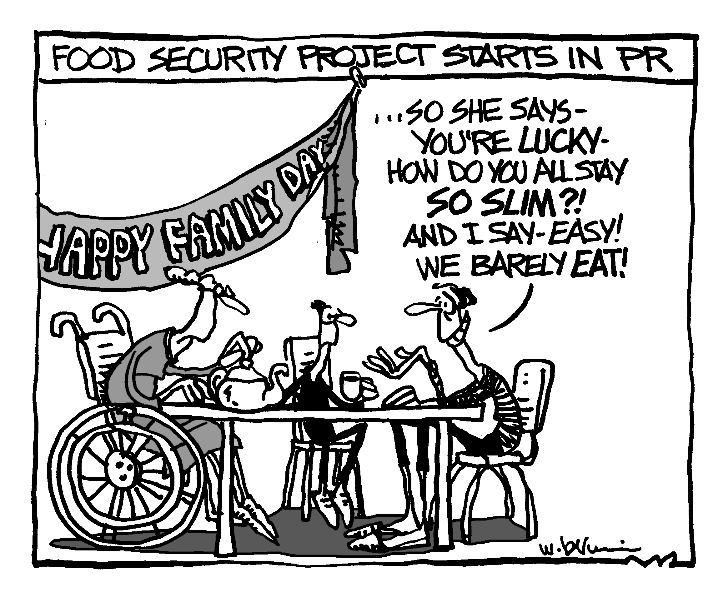 today's toon – food security project – WendyBrownComix